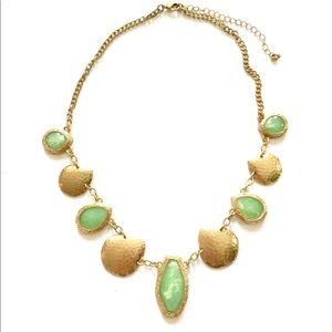 Green Gold Statement necklace